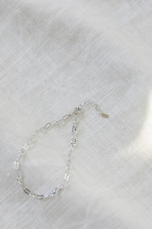 silver925 スクエアチェーンブレスレット